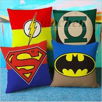 Wholesale Star Wars pillow case Sofa Car chair Cushion Linen Superhero Avengers Throw Pillow Case geometric Hulk pillow cover Home Decoration A415