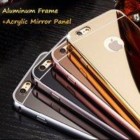 acrylic mirror panel - Luxury High Quality Aluminum Frame Ultra Thin Acrylic Mirror Panel shell for Apple iPhone S S quot Splus quot
