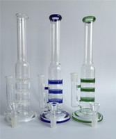 Wholesale Unique Design Torus Recycle glass bong hot selling Bongs water pipes Oil Rigs Hookahs Blue Green colorless