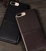 apple fiber card - 2016 New Product phone cases X level luxury ultra thin Carbon Fiber back case cover with card slot for iphone case CA1961