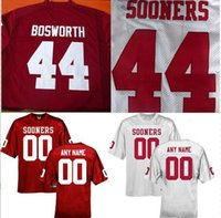 Wholesale Brian Bosworth Jersey Oklahoma Sooners Brian Bosworth College Jersey Red White Custom jersey S XL top quality