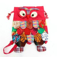 Wholesale 2016 Fashion design Colorful Ethnic Style Owl Children Package Kids Girls Fashion School Bags Chinese Characteristic A0236