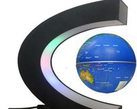magnetic suspension - Magnetic Suspension Globe Commercial Office Decoration Creative Gift Inch C Shape Blue Color
