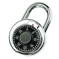 Wholesale Waterproof Durable Round Dial Number Code Lock Rotary Digit Combination Padlock for Outdoor Indoor