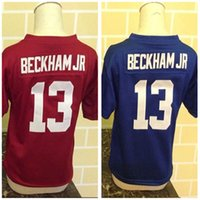 beckham baby - 2016 New Little Baby Odell Beckham Jr red blue Preschool Toddler Kids Years Old Infant Foottball Jersey