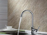 Wholesale Kitchen Faucet Mix Water Basin Faucet In The Kitchen Single Span Rotating Copper Alloy Bibcock Of Cold Hot Water