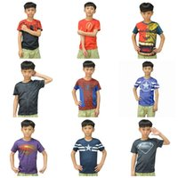 Wholesale 15Styles Children s T shirts boy Tshirts Superman Batman spider man captain America t shirt Avengers boys clothes t shirts BY DHL