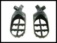 Cheap Grey Motorcycle STEEL FOOT PEGS PEG for 1999-2005 Yamaha YZ 85 125 250 YZF WR 400 426 450
