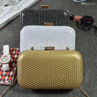Wholesale Fashion Women Clutch Bags Lovely Cat Eye Ladies Evening Handbag Criss Cross Plaids Messenger Bags for Party Wedding BG149