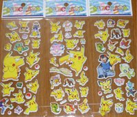 Wholesale Poke Pikachu Sticker cm D Cartoon party Decor book Stickers Avenger paper game children s sticker toys more styles