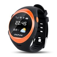 Wholesale Brand New ZGPAX S888 GSM Smart GPS Watch With WiFi Tracking Pedometer SOS Geo fence Weather Forecast Anti falling Alarm