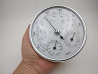 Wholesale New Quality Precision Aneroid mm in Barometer With Thermometer and Hygrometer Humidity Silver Outdoor Fishing