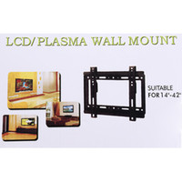 Wholesale High quality TV Flat Panel Fixed Mount HDTV Wall Mount Flat Screen Bracket for quot quot Screen LCD LED Plasma TV