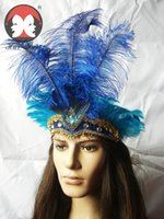 belly costumes for sale - Ostrich feather headdress decorated belly dance dance costume ball new color ostrich feather headdress decorated a sale