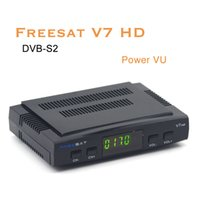 Wholesale 20pcs Cheapest Freesat V7 hd DVB S2 Satellite TV Receiver Support Power Vu Biss Key Cccamd Newcamd Youtube Youporn Set Top Box no usbwifi