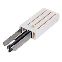 Wholesale Keychain Box Tool Case w Knife Saw Bottle Opener White