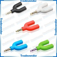 ipods - 2 Way mm Stereo Headphone Earphone Audio U Splitter Adapter Hub For iPods iPhones iPad or any MP3 MP4 Media Players