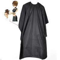 hair cutting cape - Salon Adult Waterproof Hair Cutting Hairdressing Cloth Barbers Hairdresser Cape Gown Wrap Black Big Size
