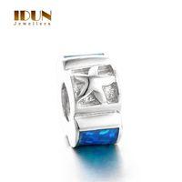 Wholesale Women fashion charms bracelets Vintage Silver Opal Stone charms ocean star beads Fit Statement Bracelets wedding Jewelry FX011