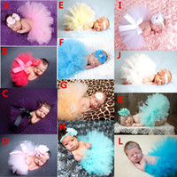 Wholesale Clothing Baby Photography Props Clothes Sets Newborn Baby Girls tutu Skirts Flowers Headbands Set Christmas Studio Photoshoot Suit