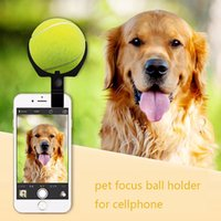 Wholesale creative Pet selfie tools dog ball toys concentration photo prop squeak toys