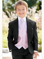 Wholesale New Boys Formal Occasion Attire Wedding Kid Dress Suit Birthday Party Suits Prom Suit Boy Wedding Suits Jacket Pants Tie Vest