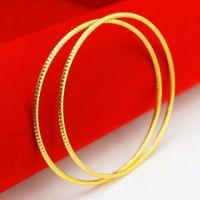 al por mayor regalo de vietnam-Vietnam Oro Pulsera Oro Pulsera hombres mujeres simulación joyas boda accesorios delgada anillo regalos de la joyería