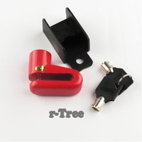 Wholesale New Arrival Colors Red Yellow Black Blue Available Scooter Cycling Safety Anti theft Disk Disc Bicycle Motorcycle Brake Rotor Lock
