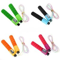 skipping rope with counter - 2 M Jump Ropes Skipping Jump High Speed Rope With Counter Number Training Sports Fitness Exercise Workout Gym Skip ropes mixed colors