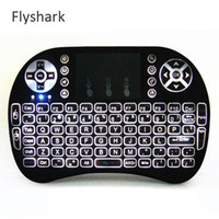 Wholesale Rii I8 gaming keyboard Fly Air Mouse Backlight GHz Wireless Bluetooth Keyboard Remote Control Touchpad For Android Box M8S MXQ Pro K