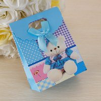 Wholesale 2016 Korean Cartoon Winnie Paper Bag Candy Bags With Handle Cute Gift Bags Bag For Children Birthday Candy Packaging