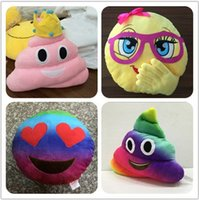 Wholesale New cm emoji plush toys Pillow Cushion cartoon inches Poop Stuffed Animals Pillows dolls Children s gift