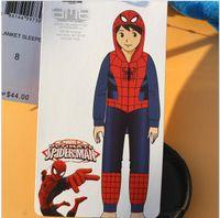 1 Piece baby boy sleepers - baby rompers in cartoon designs yrs Little boys Pajamas Spiderman Fleece Blanket Sleepers