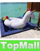 Wholesale LAI inch M Giant Unicorn Inflatable Seat On Pool Toy Float inflatable Unicorn pool Swim Ring Holiday Water Fun Pool Toys