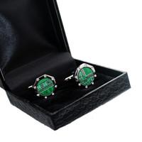 Wholesale Crystal Diamond Green Circuit Board Cufflinks Electric PCB Cuff Links CL CB