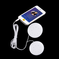 Wholesale Universal mm Dual Speakers Music Pillow Speakers Loudspeaker For MP3 MP4 For Mobile Phones PC Computer Laptop Notebook White