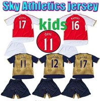 Wholesale Arsenal Kids Soccer Jersey OZIL home away WILSHERE RAMSEY ALEXIS WELBECK CECH Arsenal childrens soccer jersey football shirts