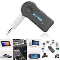 Wholesale Universal mm Car Bluetooth Audio Music Receiver Adapter Auto AUX Streaming A2DP Kit for Speaker Headphone
