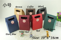bags bread - Hot selling Black Kraft Paper Bag Pouches Bag for Gift Present Bags Packaging for Food Snack Bread