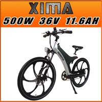 bicycles city - 4 Gifts Addmotor XIMA Frame s City Bike Magnesium Integral Wheel Black V W AH quot Electric Bicycle Newest Design Built in Battery