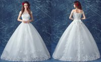 Wholesale 2016 New Princess Wedding Dress Bow knot Sequin Lace Bride dress A Line wedding gowns Sexy and Innocence