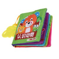 baby reading books - 1Pcs Baby Soft Cloth Book Infant Toddler Early Reading Educational Toy Animal Learning Book Chinese and English K5BO