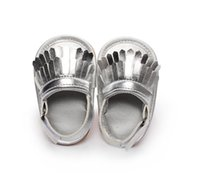 Wholesale 3Sizes Infant Toddler Newborn Baby Girl Boy Kid First Walkers Soft Rubber Soled Anti slip Outdoor Moccasins Moccs Shoes