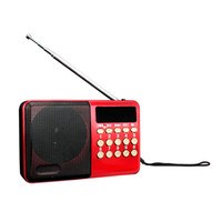 best elder - 2 sets new year best family gift for elder people portable USB and TF card digital songs audio speaker with earphone support