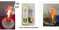 Wholesale 10pcs E14 E24 C35 C7 T28 Pull Tail Sharp Tips Jesus Cross Crossing Candle Decorative Flame Lighting Bulb Lights Lamp Bulbs