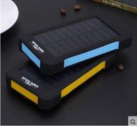 ba usbs - Portable ultra thin general solar energy mobile power supply blue black Yellow black Travel charge treasure Multi output USB Foam packing ba