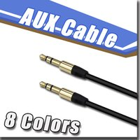 Wholesale 10 color mm AUX Audio Cables uxiliary cable male to male Stereo Car Extension audio Cable for MP3 for iphone for Samsung