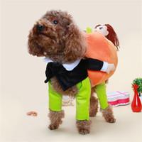 Смешные Тедди VIP собака проведения тыквы преображение загружены злодея с тыквой творческой одеждой