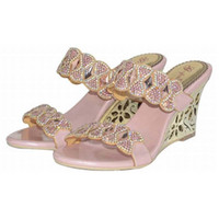 Grande taille 34-44 femmes rhinestone cristal wedges sandales haut talons sandales roma sandales sandalias épaisses élégantes chaussures mariage élégant parti