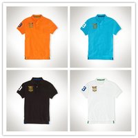 Wholesale NEW SALE Summer famous polo shirts Men s casual short sleeved T shirt embroidered lapel POLO shirt short sleeve T shirt foreign trade